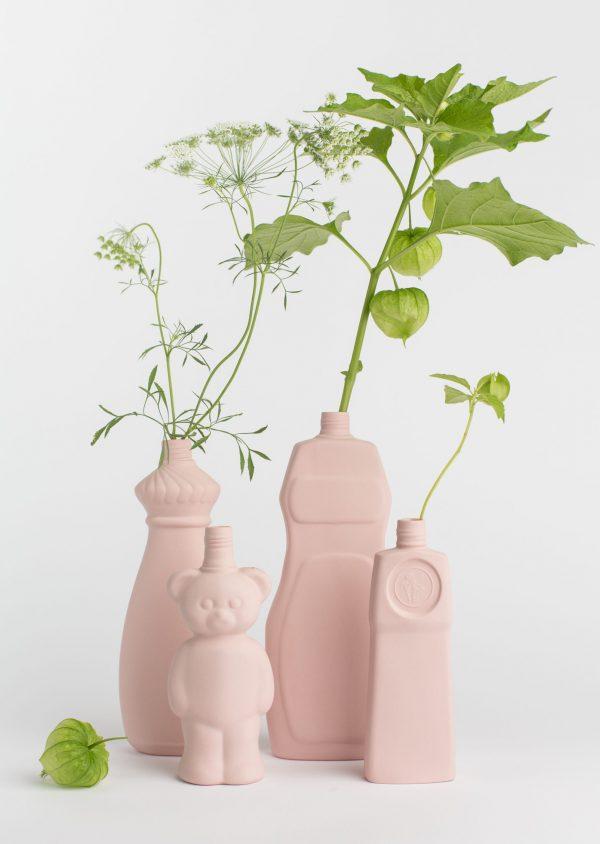 group photo light pink porcelain vases