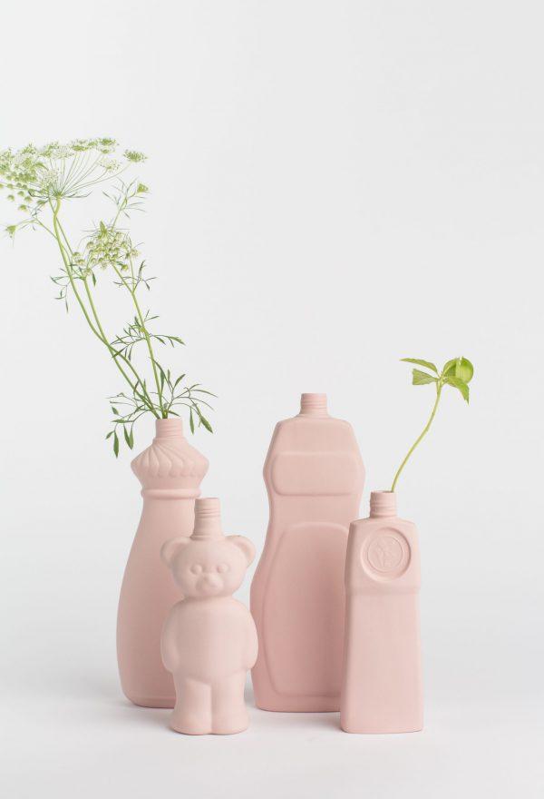 group photo powder pink porcelain vases