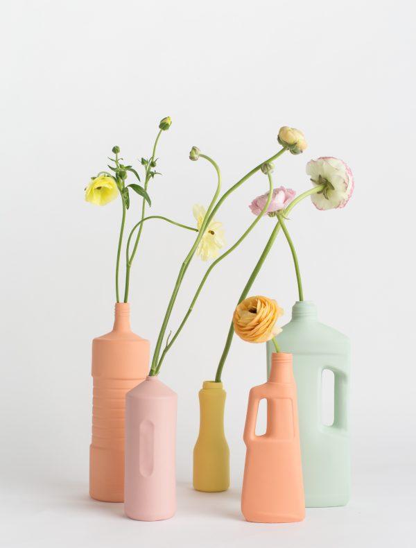 group photo five vases